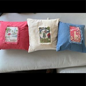 Set of 3 Pottery Barn Hawaiian pillows